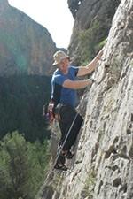 Roger Climbing Outside