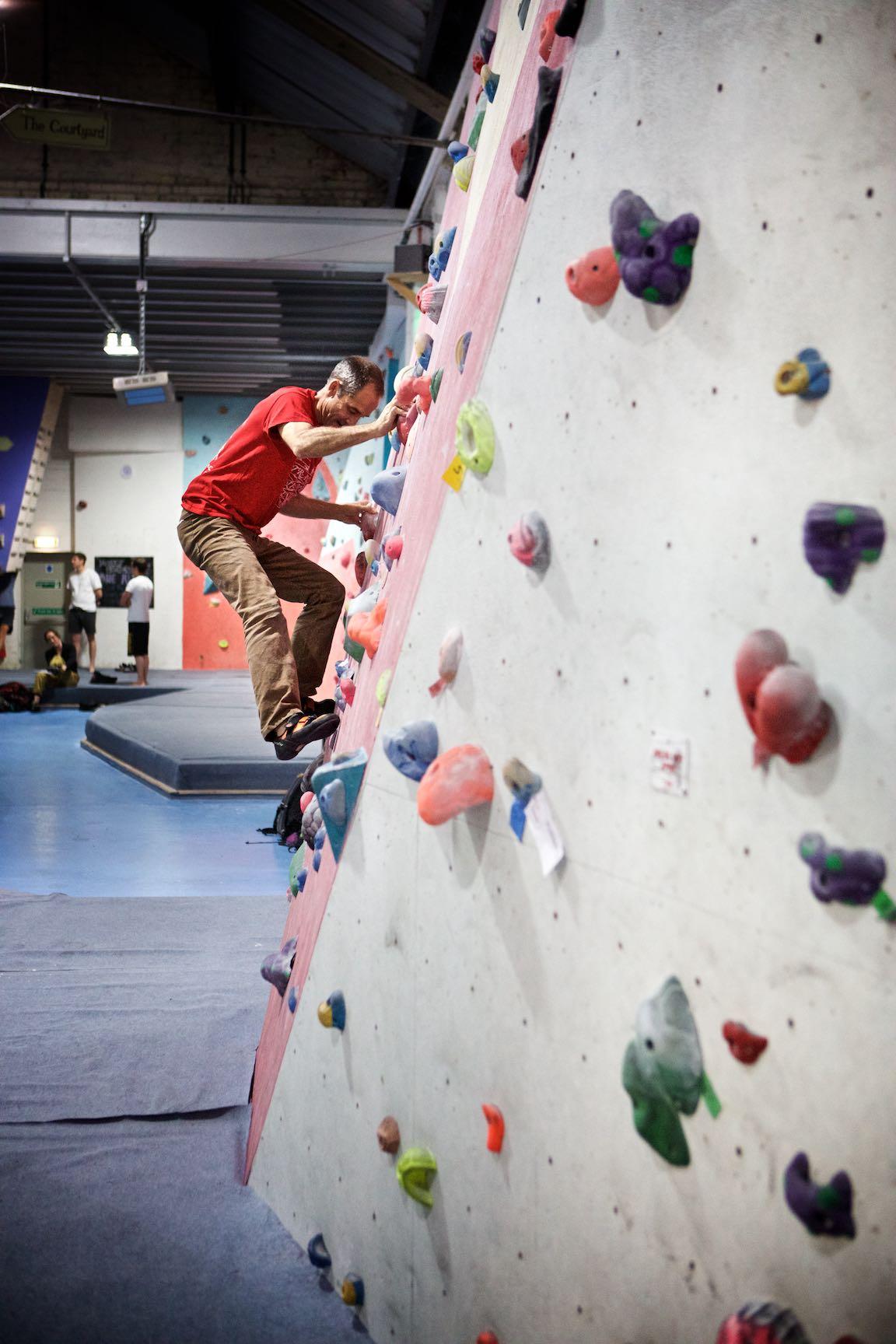 Slab climb